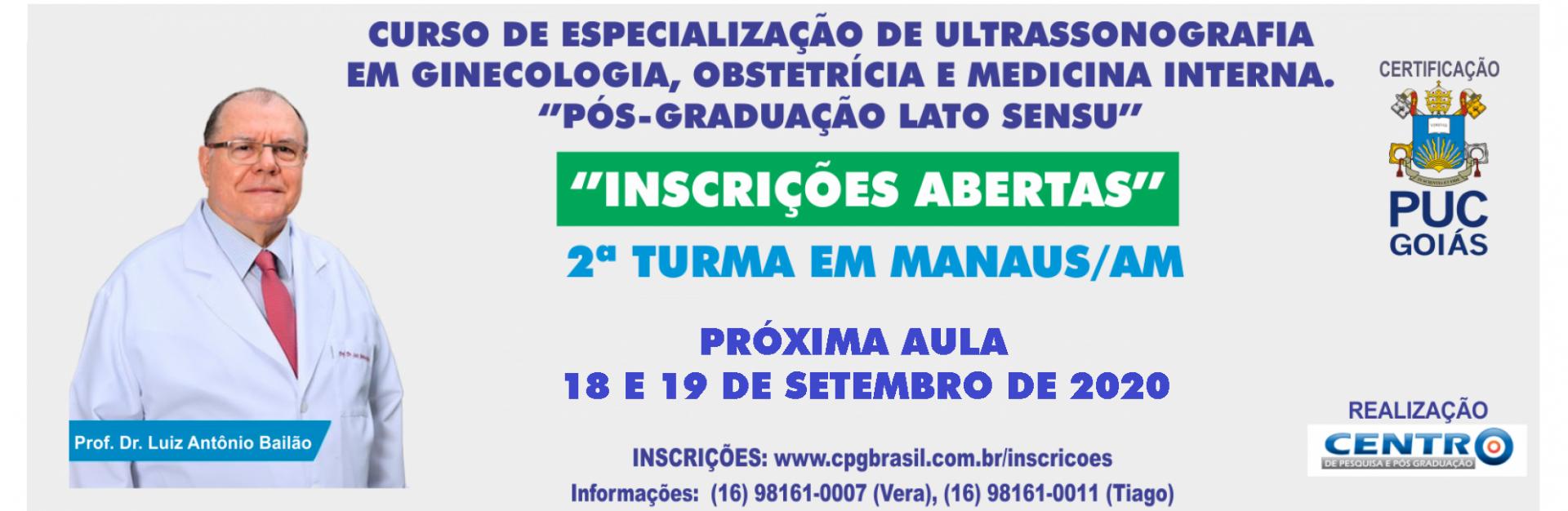 CURSO DE P�S GRADUA��O EM ULTRASSONOGRAFIA - MANAUS / AM